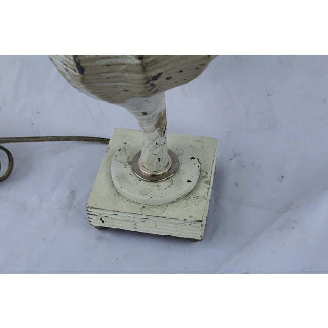 Original White Metal Conch Shell Lamp For Sale - Image 4 of 8