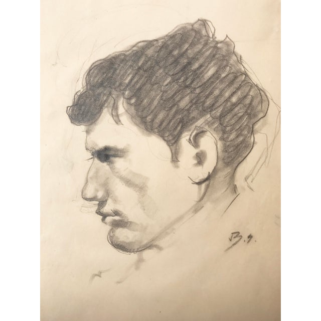Portrait Drawing of a Man by Balthus Paris, Circa 1950 - Image 3 of 5