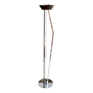 Chrome & Lucite Torchiere Lamp For Sale