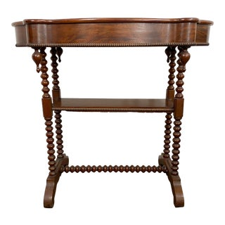 Early 19th.c Louis Xlll Bobbin Legs Side Table For Sale