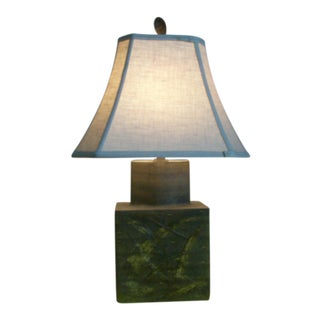 Marcello Fantoni Pottery Asian Style Green Lamp