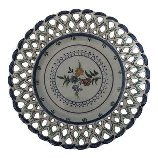 Mid 20th Century Carvalhinho Porto Ceramic Plate For Sale