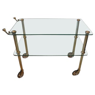 Brass Serving Cart by Osvaldo Borsani, Circa 1938 For Sale