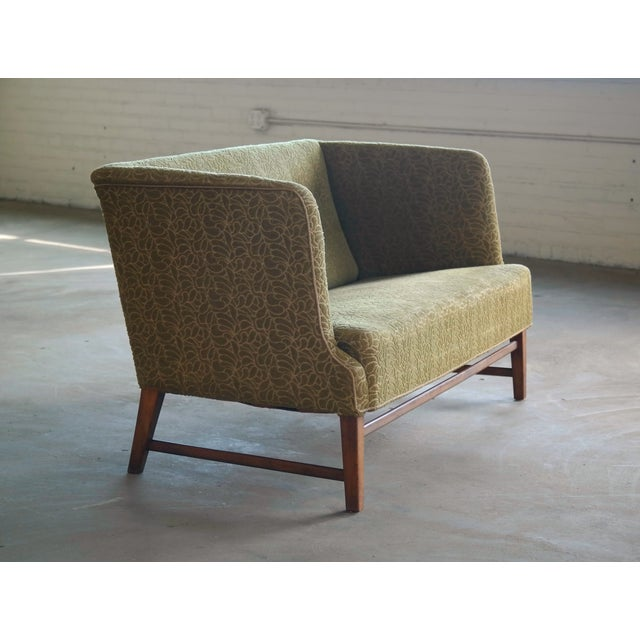 1930s Kaare Klint Style Danish Settee in Mahogany Attributed to Georg Kofoed For Sale - Image 12 of 12