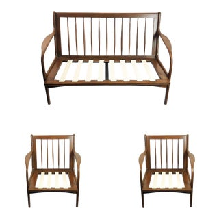 "Midcentury Livingroom Set by ""Silleria La Malinche"" - 3 Pieces For Sale"