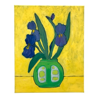 Iris in the Sun Still Life Painting For Sale