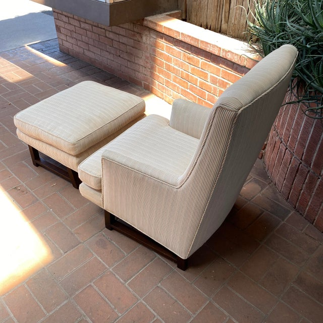 1960s 1960s Edward Wormley for Dunbar Lounge Chair and Ottoman For Sale - Image 5 of 7