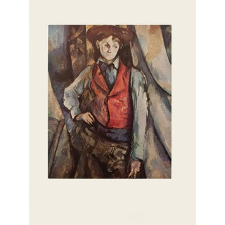 "1950s Paul Cezanne ""Boy With Red Vest"" First Edition Photogravure For Sale"
