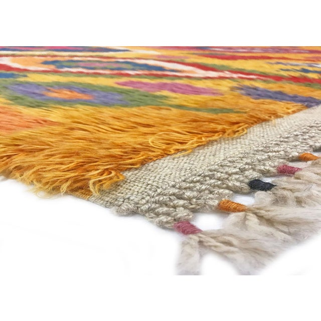 1960s Hand Woven Turkish Tulu with curly hair of wool. These tribal style Tulus are reproduction of Tulus that were used...