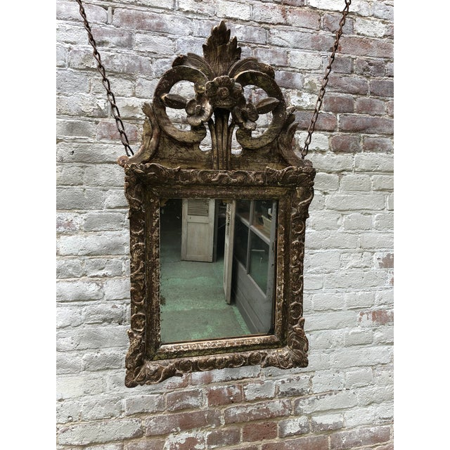 Louis XIV Mirror, Carved Gilt Wood Provincial For Sale - Image 11 of 11