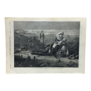"Mid 19th Century Antique ""In Aid of Sufferers"" Print For Sale"