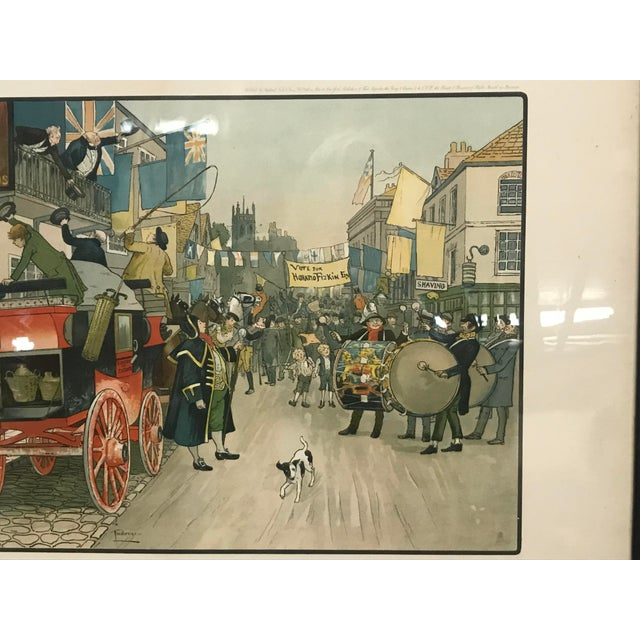 Lithograph Vintage Mid-Century British Election Day Lithograph Print For Sale - Image 7 of 8
