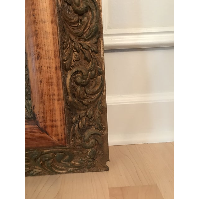 Antique Chinoiserie Panel Print in Wooden Frame For Sale In Chicago - Image 6 of 13