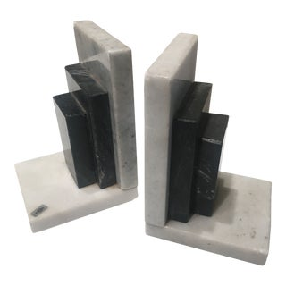 Vintage Marble Bookends a Pair For Sale