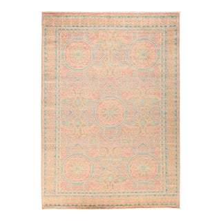 "Eclectic Hand Knotted Area Rug - 6' 4"" X 8' 10"" For Sale"