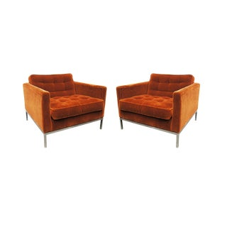 Pair of Lounge Chairs by Florence Knoll For Sale
