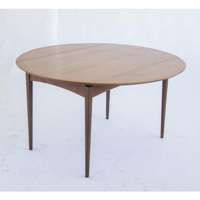 Dux of Sweden Round Drop Leaf Dining Table - Image 5 of 10