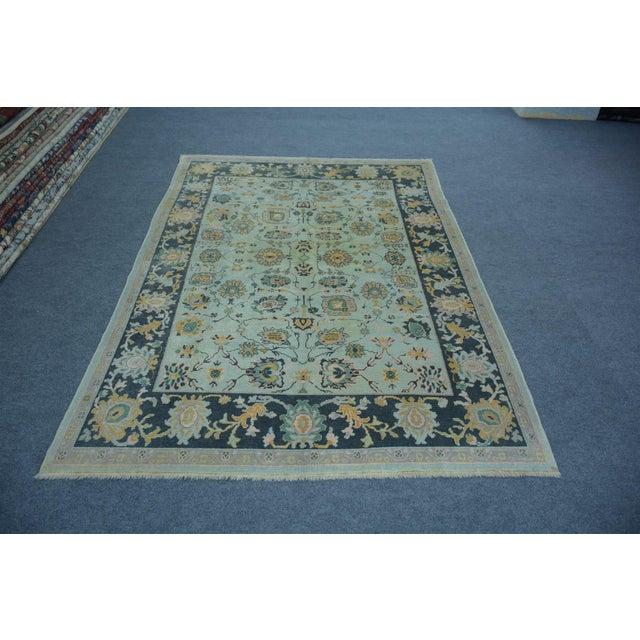 Islamic Turkish Anatolian Modern & Decorative Oushak Rug - 5′10″ × 8′ For Sale - Image 3 of 5