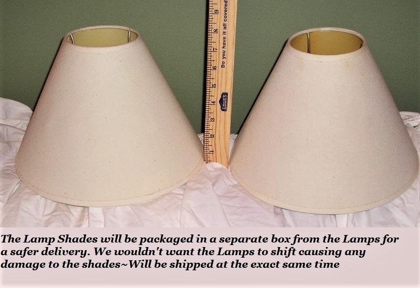 Vintage Elephant Table Top Lamps With Shades  A Pair For Sale   Image 10 Of