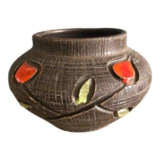1972 Mid Century Italian Pottery Bowl For Sale