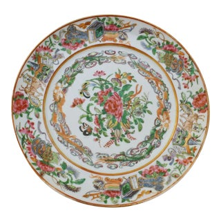 Chinese Export Rose Canton Plate