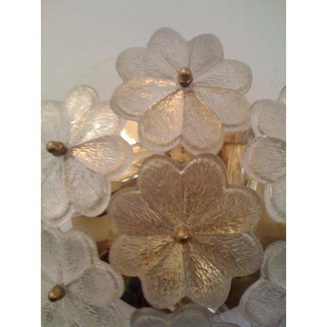 Mid-Century Modern 1950s Mid-Century Modern Austrian Glass Ceiling Light For Sale - Image 3 of 7