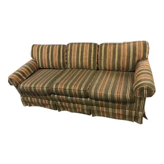 1990s Traditional Drexel Striped Sofa For Sale