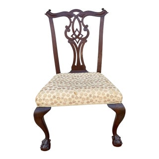 Antique Mahogany Chippendale Side Chair For Sale