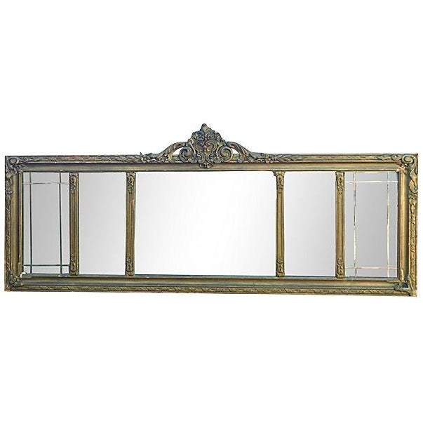 Antique Carved Wood Mantel Mirror - Image 1 of 7