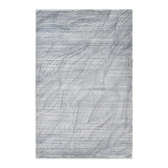 Shiva, Contemporary Modern Hand Loomed Area Rug, Mist, 9 X 12 For Sale - Image 10 of 10