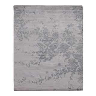 """Pasargad N Y Modern Pure Bamboo Silk Hand Knotted Area Rug - 8'2"""" X 10'1"""" For Sale"""