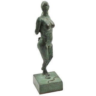 Art Deco Bronze Sculpture Diana the Huntress or Diane Chasseresse For Sale