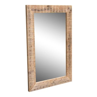 Reclaimed Barn Beam Mirror For Sale