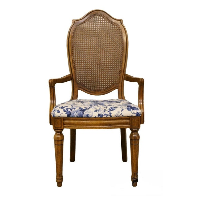 Thomasville Furniture Tapestry Collection Cane Back Dining Arm Chair For Sale - Image 13 of 13
