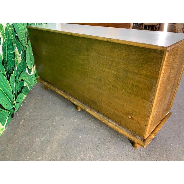 Polynesian Tiki Style Rattan Dresser For Sale - Image 10 of 11