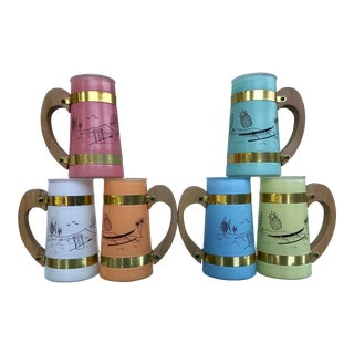 Siestaware Pastel Tiki Mugs - Set of 6