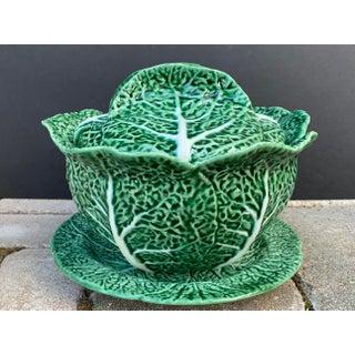 Bordallo Pinheiro Majolica Green Cabbage Lidded Tureen & Underplate Preview