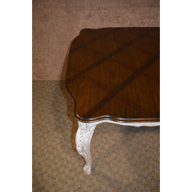 Parquet Top French Style Oak Dining Table For Sale In Philadelphia - Image 6 of 12
