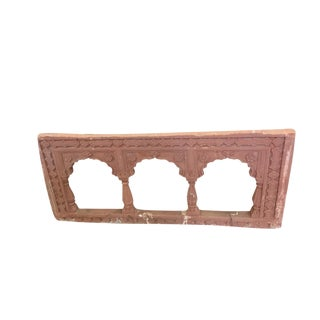 Antique Red Stone Arch Frame For Sale