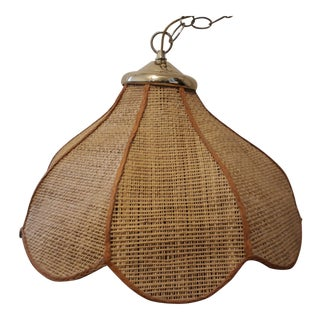 1970s Cane Lamp Shade