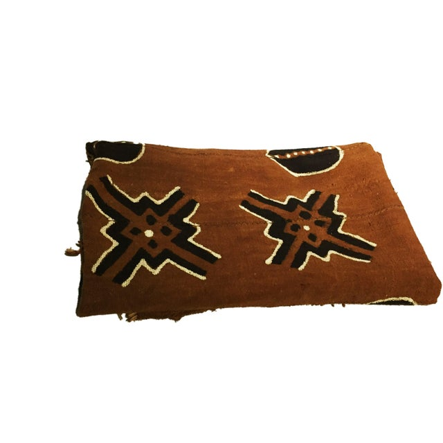 African Bogolan Mali Mud Cloth Textile For Sale - Image 3 of 11