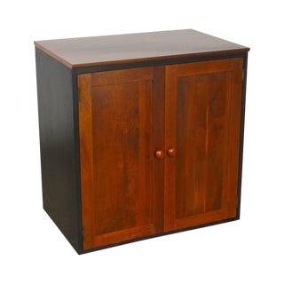 Ethan Allen American Impressions Black & Cherry 2 Door Cabinet