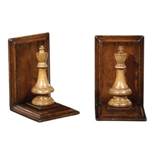 Jonathan Charles King Chess Bookends - A Pair