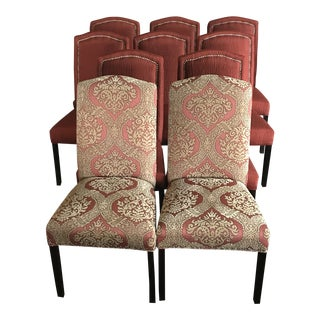 Warm Welcoming Dining Chairs - Set of 10 For Sale