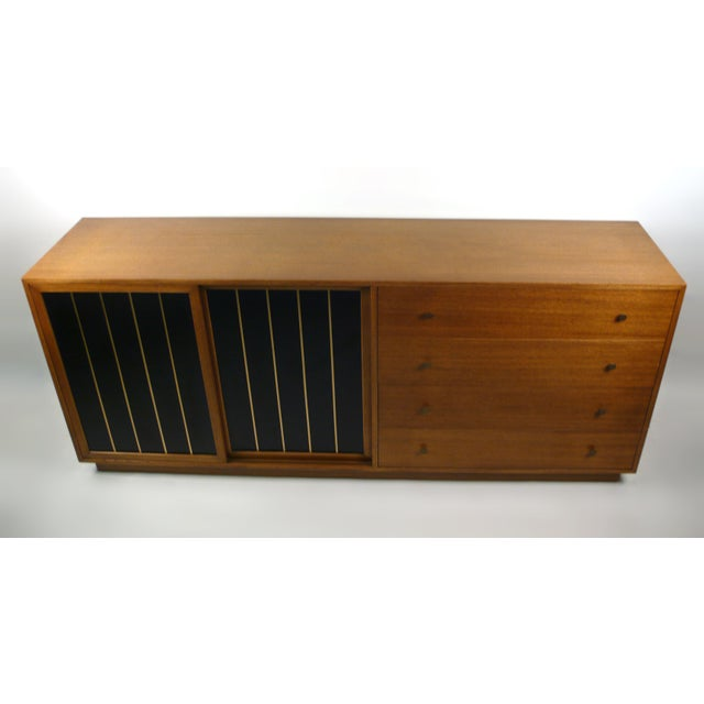 Modern Leather Faced Probber Cabinet For Sale - Image 3 of 9