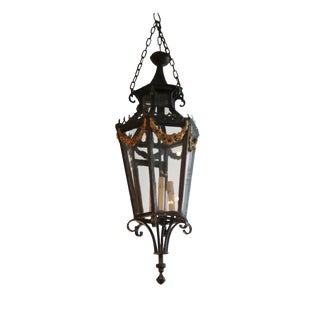 19th Century Louis XV Style Iron Lantern For Sale