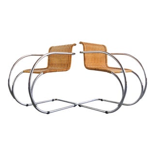 Set of Two Ludwig Mies Van Der Rohe Mr 20 Chairs for Stendig For Sale