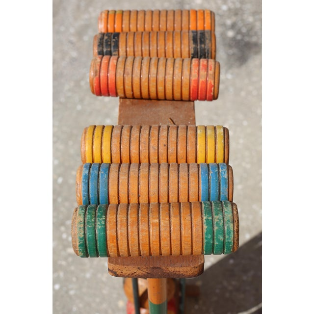 Traditional Vintage Wooden Croquet Set With Rack For Sale - Image 3 of 8