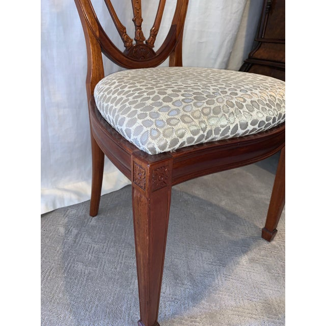 Wood Hepplewhite Style Dining Chairs- Set of 10 For Sale - Image 7 of 13