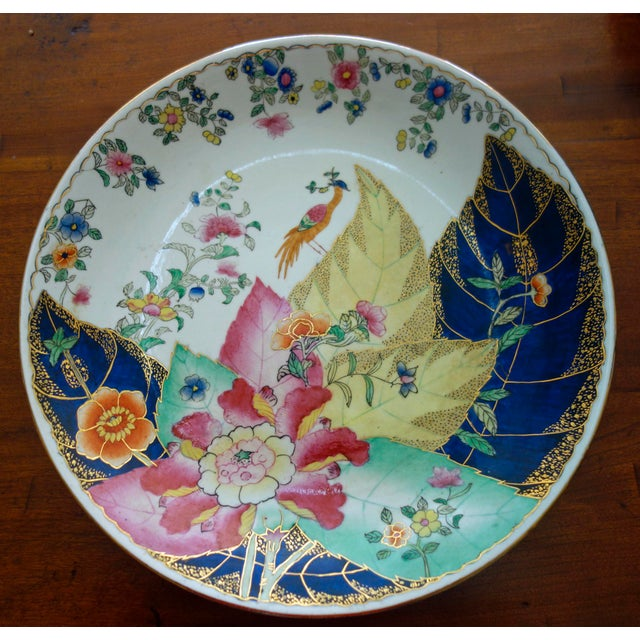 Metal 1960s Chinese Tobacco Leaf Plate For Sale - Image 7 of 7